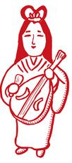 七福神(弁済天)のイラスト