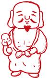 七福神(布袋尊)のイラスト